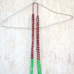 Kara necklace(Green/Brown)